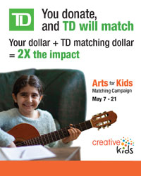 poster for Creative Love - T D Arts for Kids Regina - May 7-21, 2021